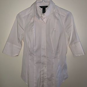 3/4 length sleeve White and Black Market button up
